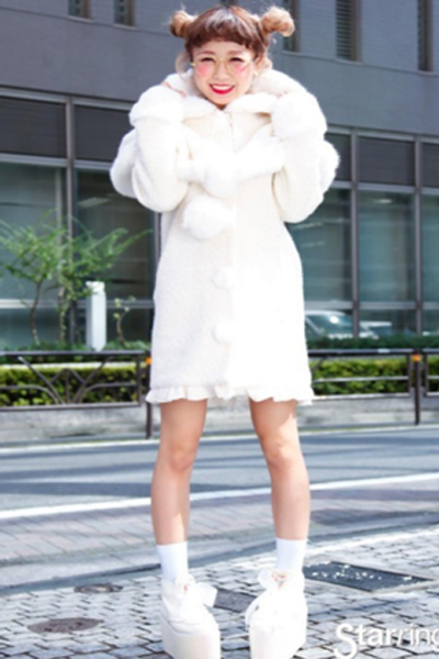 Strikingly white harajuku