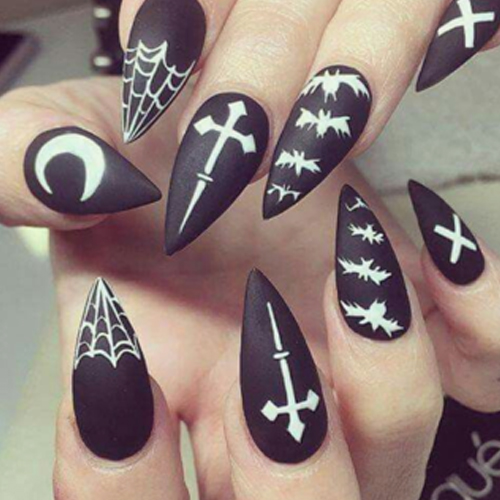 Sharp Witchy Nails