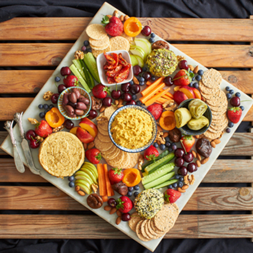 Vegan Cheese and Fruits Platter