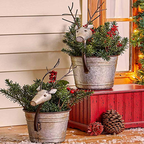 Christmas Porch Planters