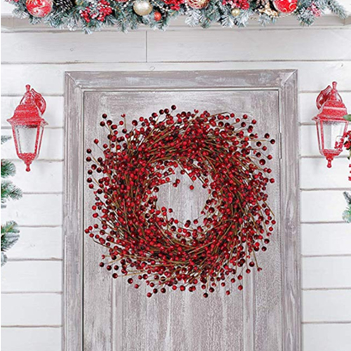Unique Red Berry Wreath