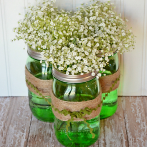 Baby Breath In Mason Jar