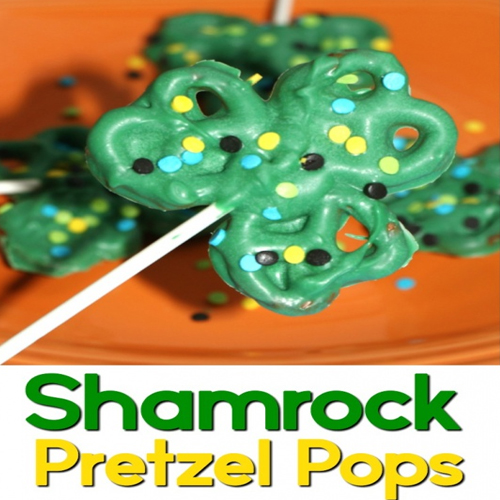 st. patricks day pretzel pop