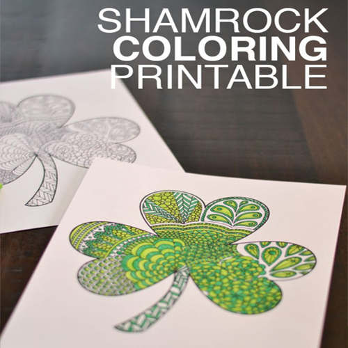 shamrock coloring printable