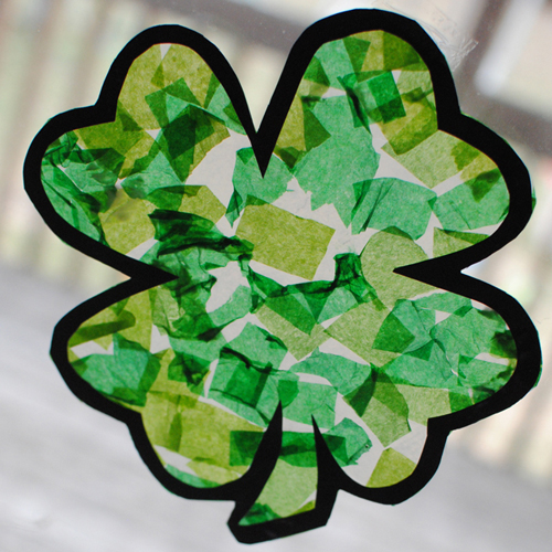 shamrock sun-catcher